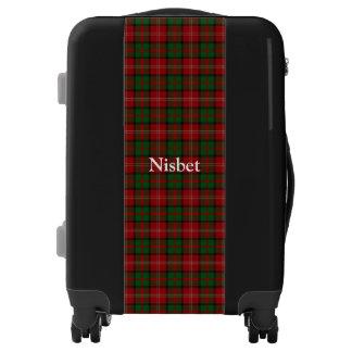 Clan Nisbet Nesbitt Tartan Customize Your Name Luggage