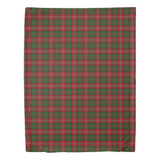 Clan Nisbet Scottish Accents Red Green Tartan Duvet Cover