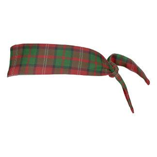 Clan Nisbet Scottish Accents Red Green Tartan Tie Headband