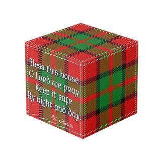 Clan Nisbet Tartan House Blessing Cube