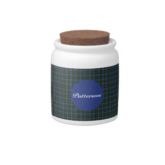 Clan Patterson Tartan Candy Jar