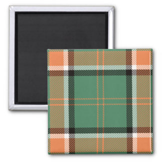 Clan Pollock Tartan 2 Inch Square Magnet
