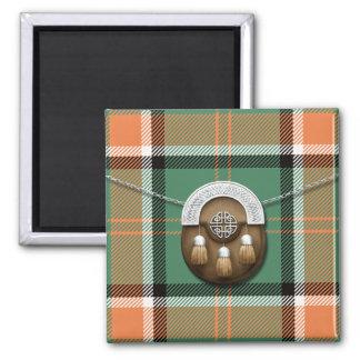Clan Pollock Tartan And Sporran Magnet