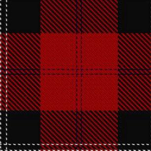Clan Ramsay Scottish Heritage Red Black Tartan Shower Curtain
