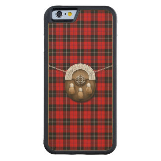 Clan Ramsay Tartan And Sporran Carved® Maple iPhone 6 Bumper