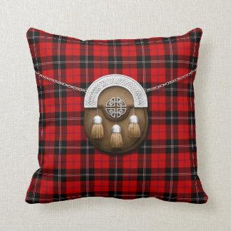 Clan Ramsay Tartan And Sporran Throw Pillow