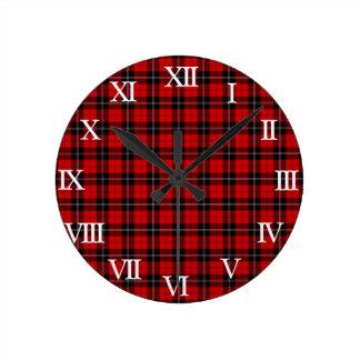 Clan Ramsay Tartan Round Clock