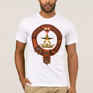 Clan Rattray Family Crest and Targe T-Shirt