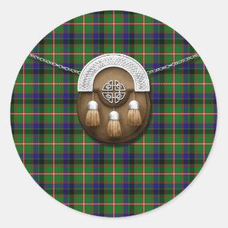 Clan Reid Tartan And Sporran Stickers