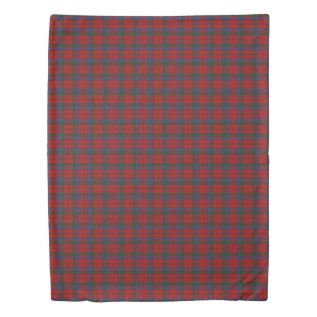Clan Robertson Scottish Accents Red Green Tartan Duvet Cover at Zazzle