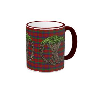 Clan Robertson Tartan And Celtic Tree Of Life Coffee Mug