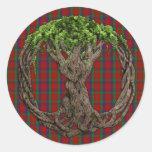 Clan Robertson Tartan And Celtic Tree Of Life Round Sticker