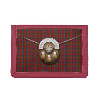 Clan Robertson Tartan And Sporran Trifold Wallets