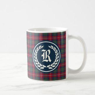Clan Robertson Tartan Monogram Coffee Mug