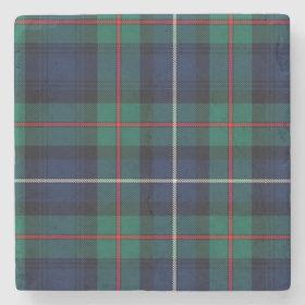 Clan Robertson Tartan Plaid Stone Coaster