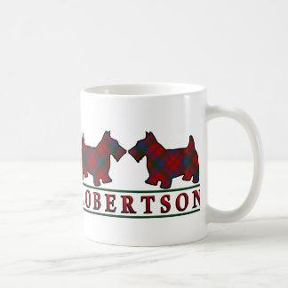 Clan Robertson Tartan Scottish Scottie Dogs Coffee Mug