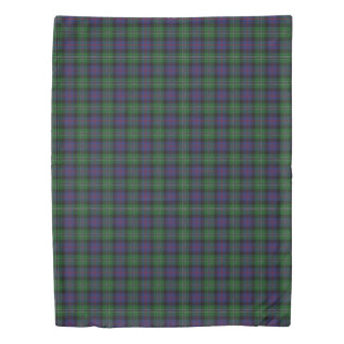 Clan Rose Scottish Hunting Blue And Green Tartan Duvet Cover at Zazzle