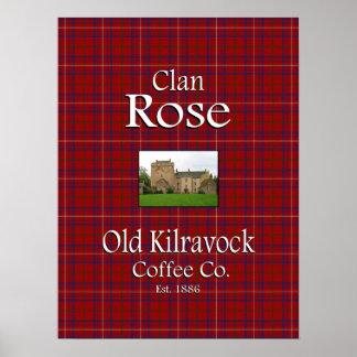 Clan Rose's Old Kilravock Coffee Co. Poster