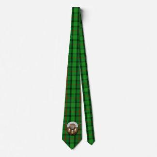 Clan Ross Tartan And Sporran Neck Tie
