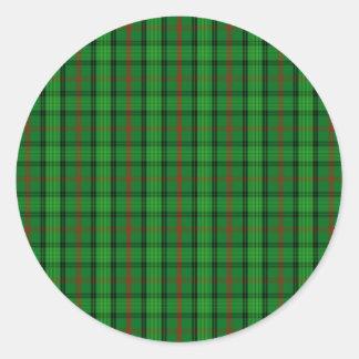 Clan Ross Tartan Round Sticker