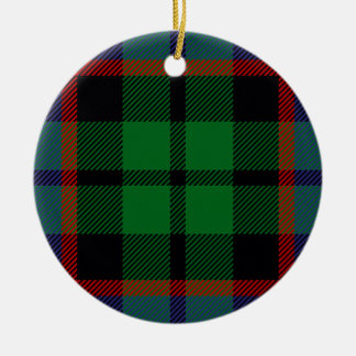 Clan Russell Tartan Double-Sided Ceramic Round Christmas Ornament