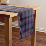 Clan Rutherford Royal Blue Scottish Tartan Short Table Runner