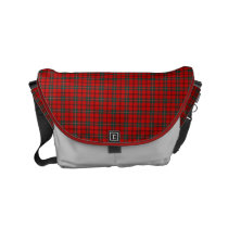 Clan Scott Red and Forest Green Scottish Tartan Small Messenger Bag