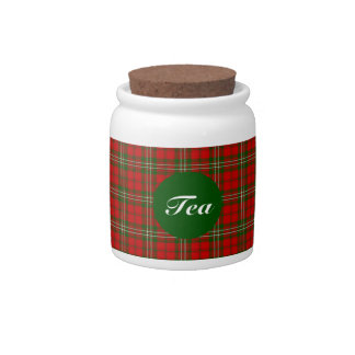 Clan Scott Tartan Candy Jar