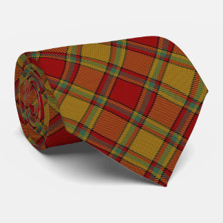 Clan Scrymgeour Letter S Monogram Tartan Neck Tie