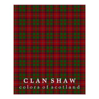 Clan Shaw Colors of Scotland Tartan Poster