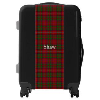 Clan Shaw Tartan Customize Your Name Luggage
