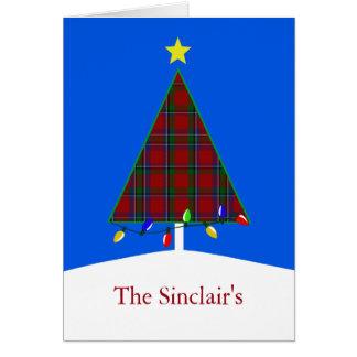 Clan Sinclair Plaid Christmas Tree Greeting Card