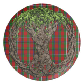 Clan Sinclair Tartan And Celtic Tree Of Life Melamine Plate