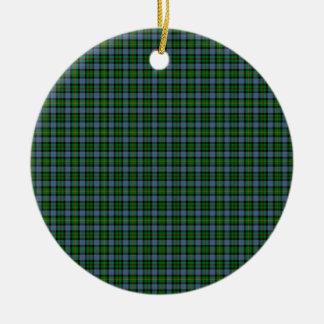 Clan Smith Tartan Double-Sided Ceramic Round Christmas Ornament