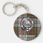 Clan Stewart Crest & Tartan Key Chains
