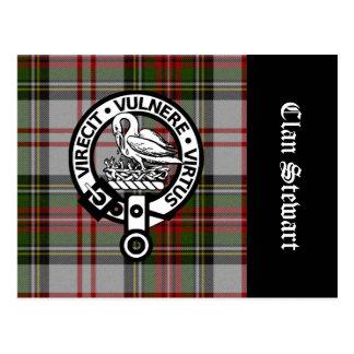 Clan Stewart Crest & Tartan Postcard