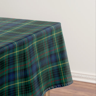 Clan Stewart Green And Blue Hunting Tartan Tablecloth
