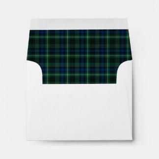 Clan Stewart Hunting Tartan Green Plaid Envelope