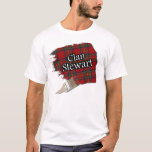 Clan Stewart Scottish Tartan Paint Shirt