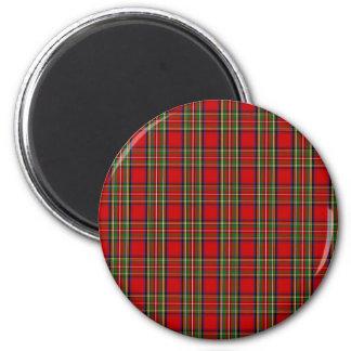 Clan Stewart Tartan 2 Inch Round Magnet