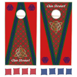Clan Stewart Tartan & Celtic Knots #2 Cornhole Set