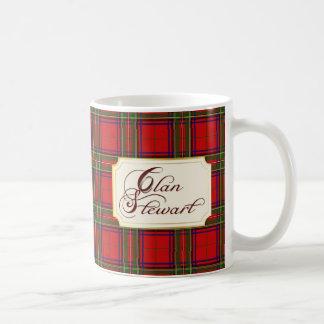 Clan Stewart Tartan Monogrammed Classic Mug 2C