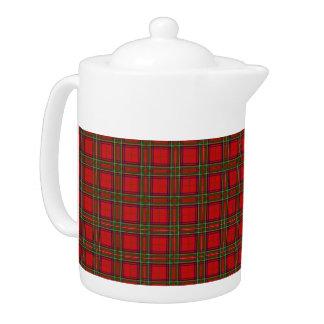 Clan Stewart Tartan Pattern Tea Pot