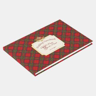 Clan Stewart Tartan Pattern Wedding Guestbook #2