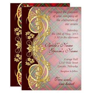 Clan Stewart Tartan Pattern Wedding Invite 1