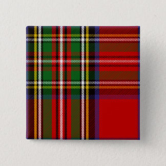 Clan Stewart Tartan Pinback Button