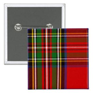 Clan Stewart Tartan Pinback Button