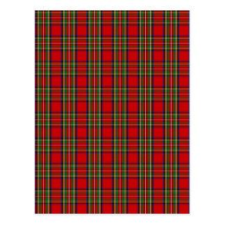 Clan Stewart Tartan Postcard