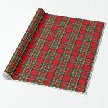 Clan Stewart Tartan Wrapping Paper