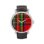 Clan Stewart Tartan Wrist Watch